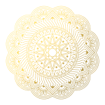 CA0063 Mandala Geometry Patterns-gold301